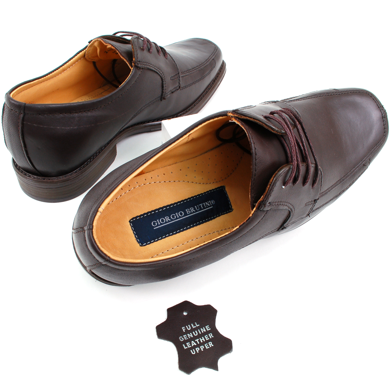 Mens-Lace-Up-Oxfords-Dress-Shoes-Genuine-Leather-Moc-Toe-Giorgio-Brutini-Padded thumbnail 22