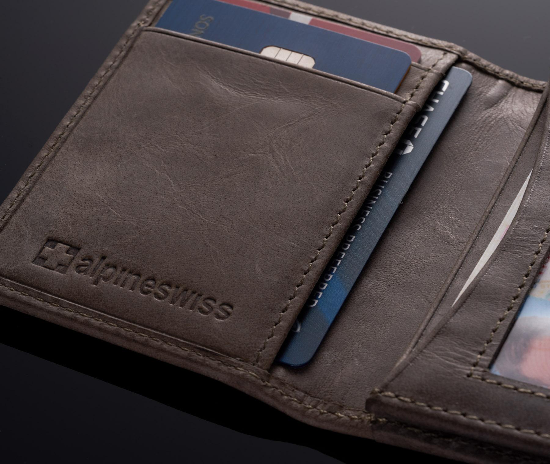 Alpine-Swiss-RFID-Leather-Business-Card-Wallet-Minimalist-ID-Window-Card-Holder thumbnail 43