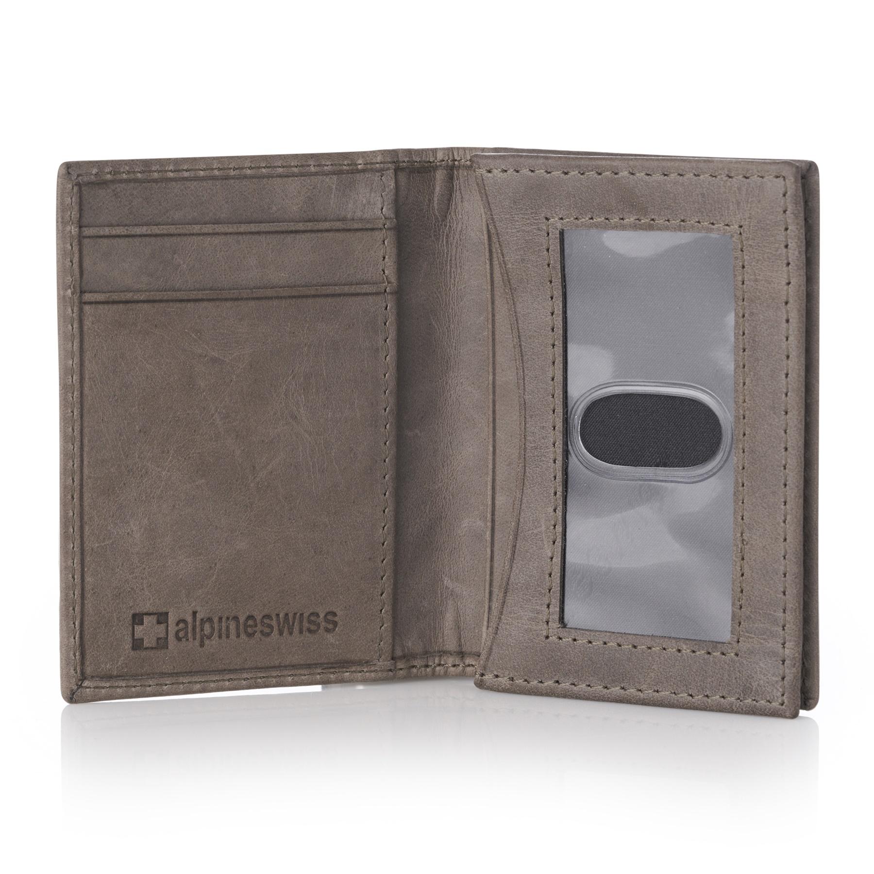 Alpine-Swiss-RFID-Leather-Business-Card-Wallet-Minimalist-ID-Window-Card-Holder thumbnail 45