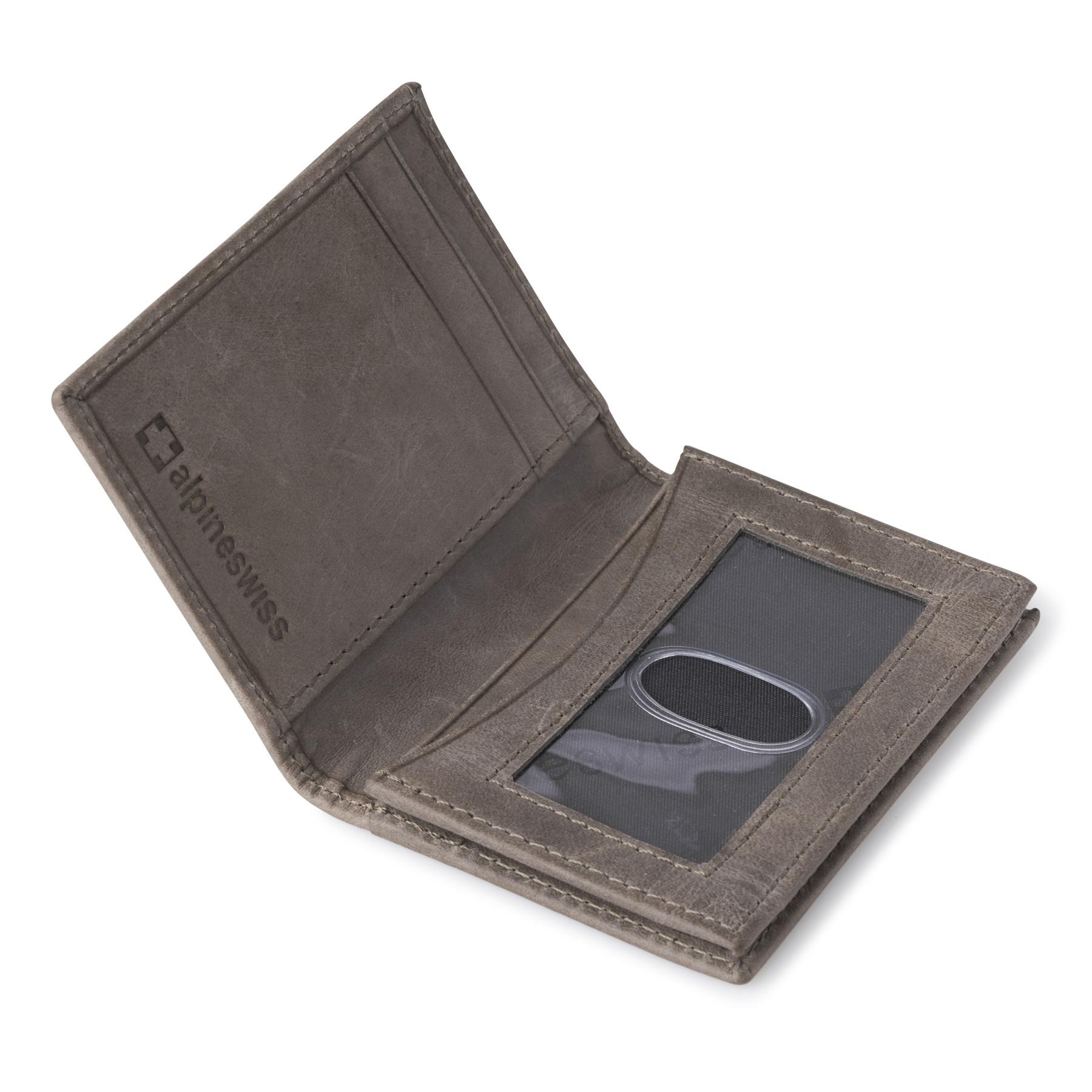 Alpine-Swiss-RFID-Leather-Business-Card-Wallet-Minimalist-ID-Window-Card-Holder thumbnail 42