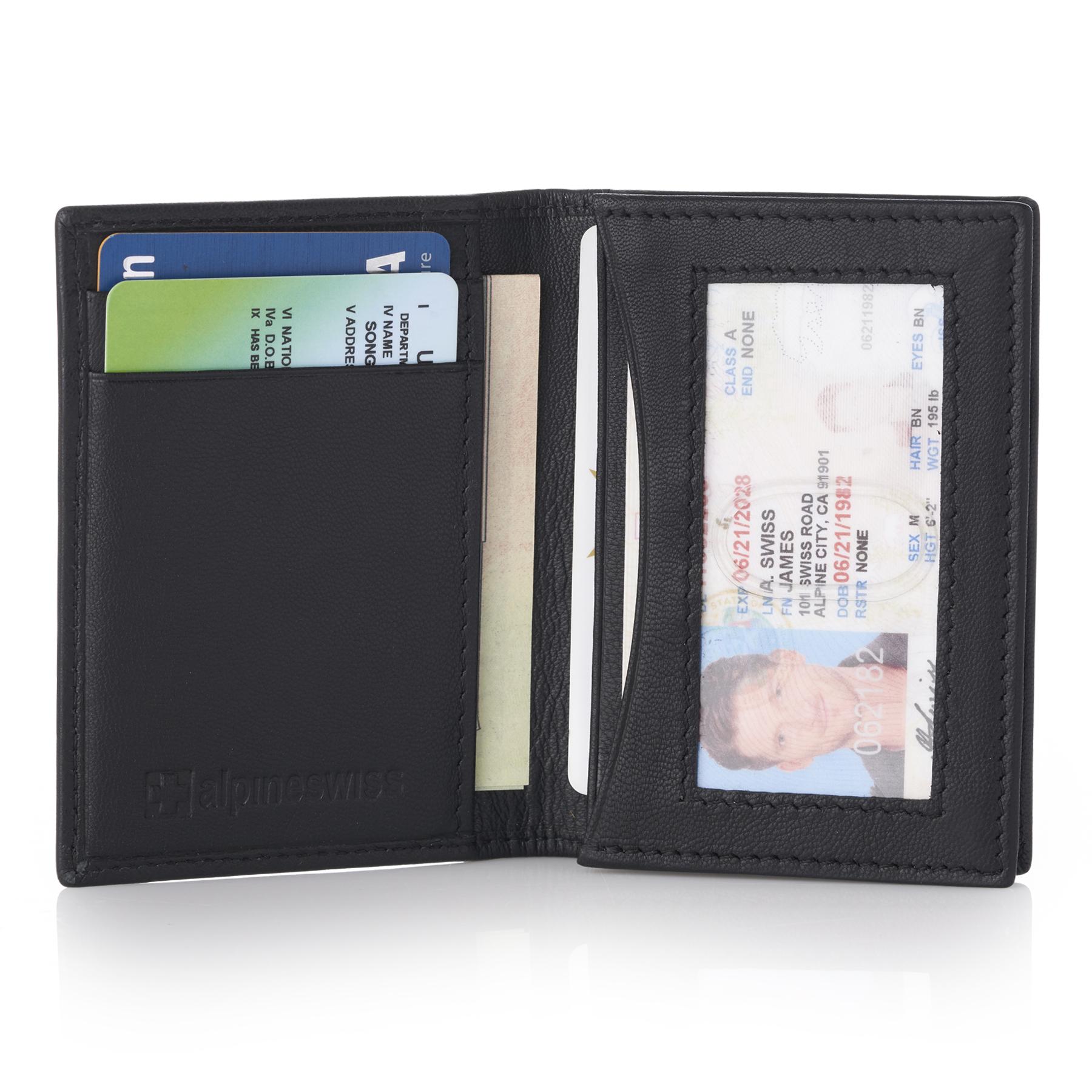 Alpine swiss rfid leather business card wallet minimalist id window alpine swiss rfid leather business card wallet minimalist id window card holder colourmoves