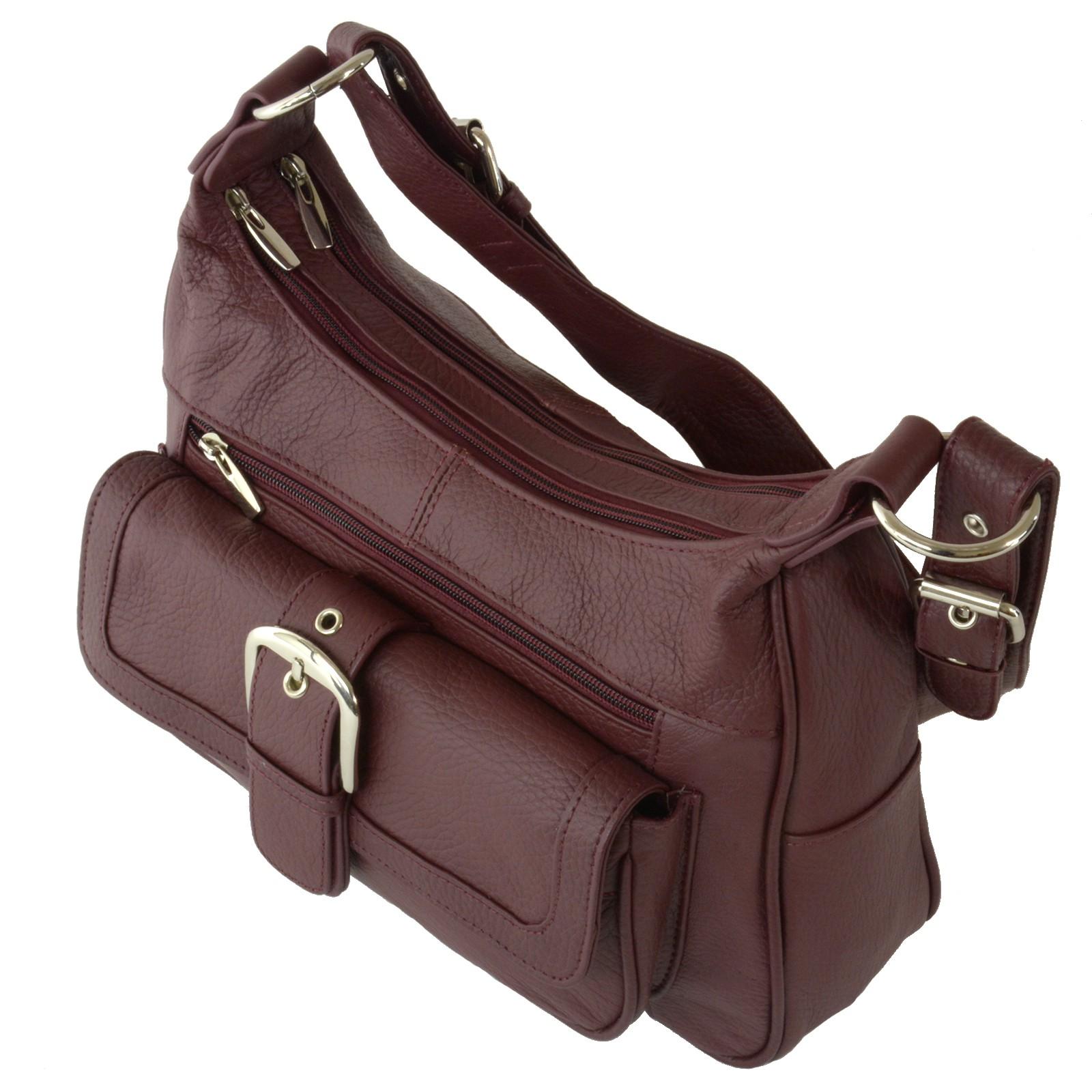 women u0026 39 s leather organizer purse multi pocket handbag shoulder bag satchel tote