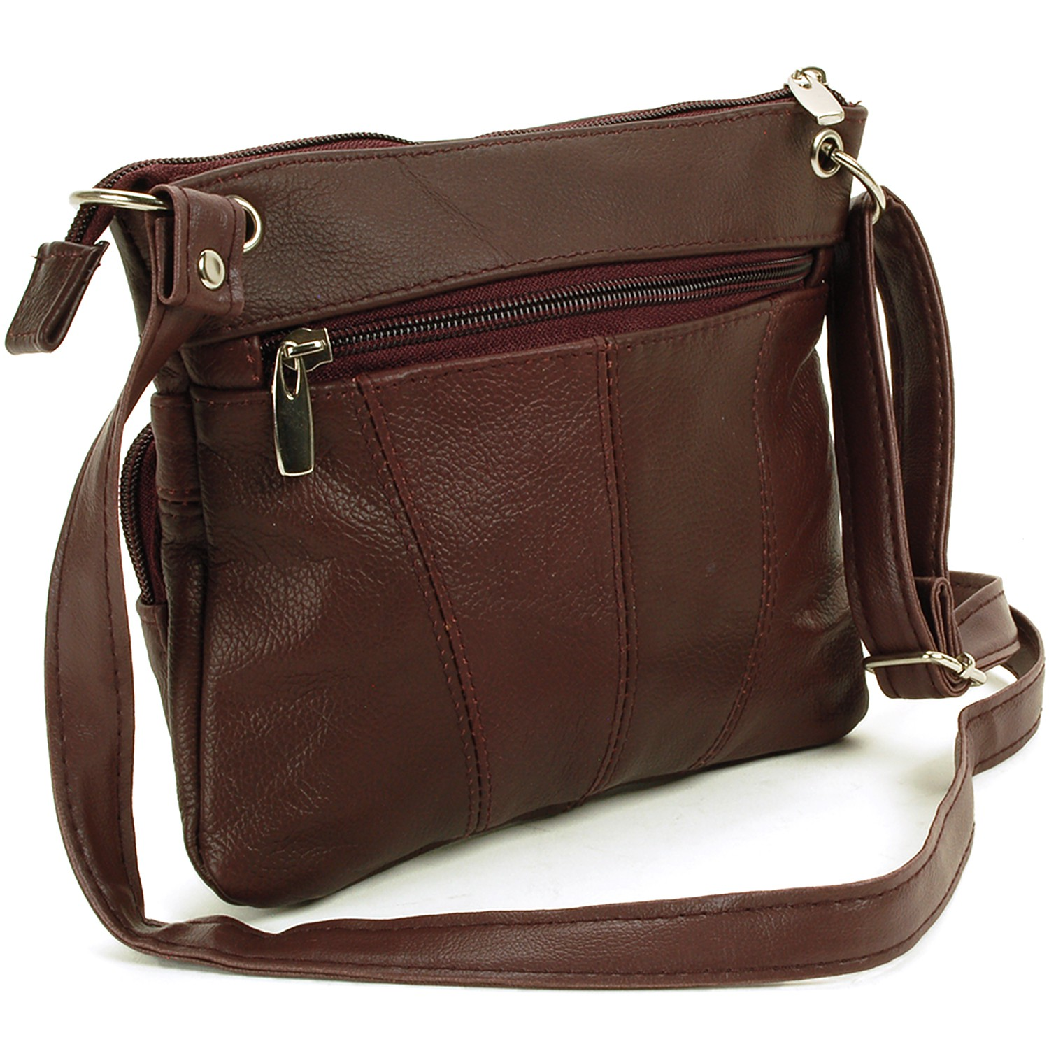 Women's Leather Purse Cross Body Shoulder Bag Handbag ...