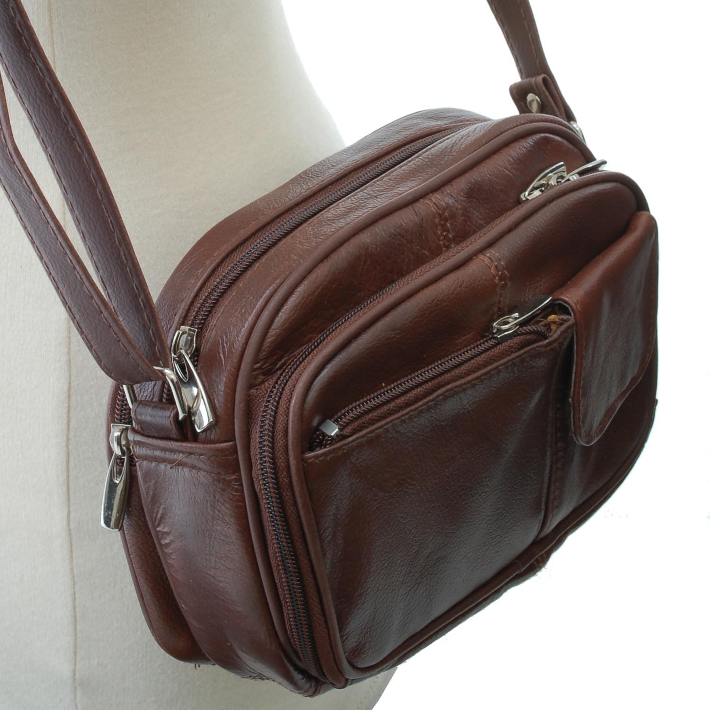 Womens-Leather-Organizer-Purse-Shoulder-Bag-Handbag-Cross-Body-Bag-Large-Clutch