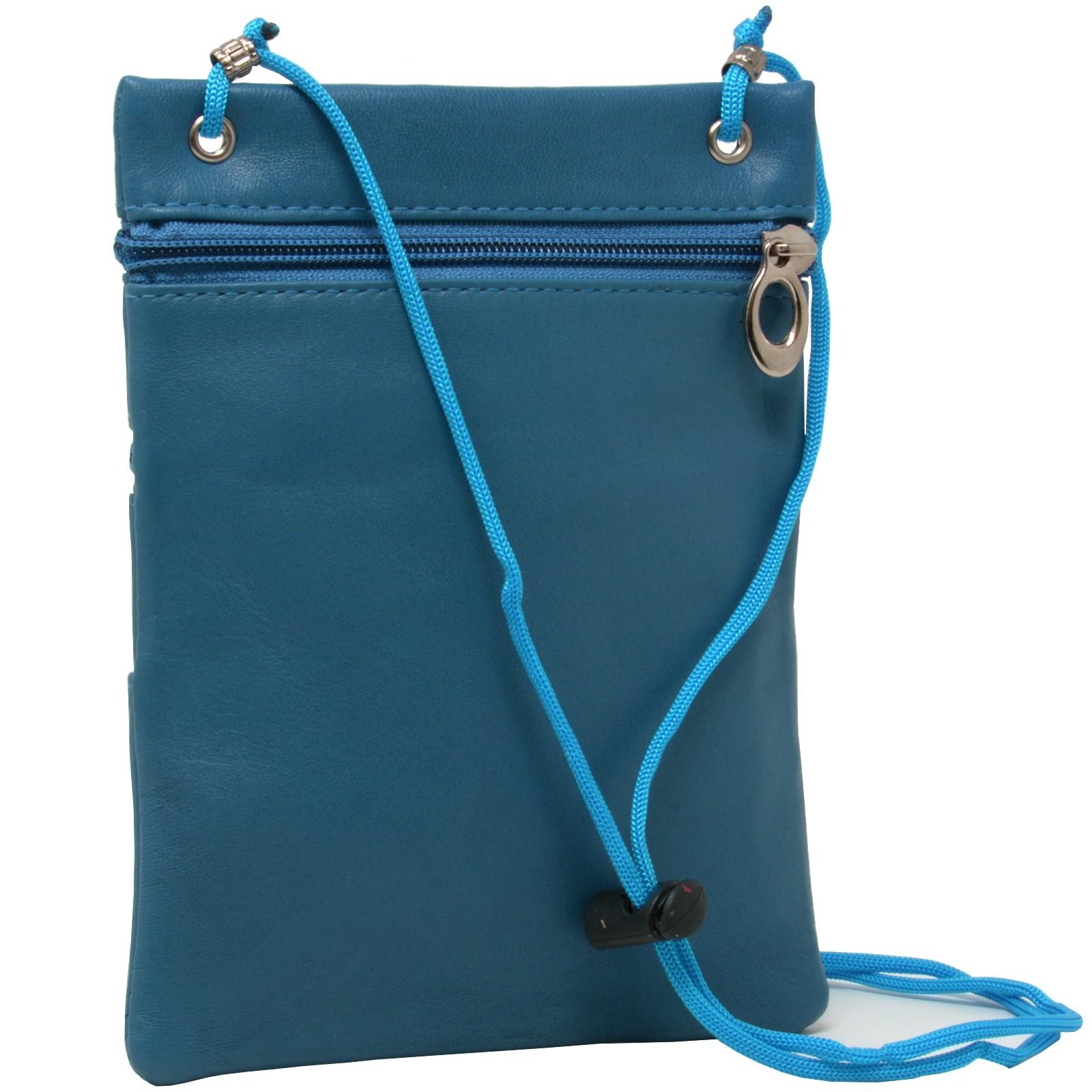 Soft-Leather-Purse-Organizer-Shoulder-Bag-4-Pocket-Micro-Handbag-Travel-Wallet thumbnail 23