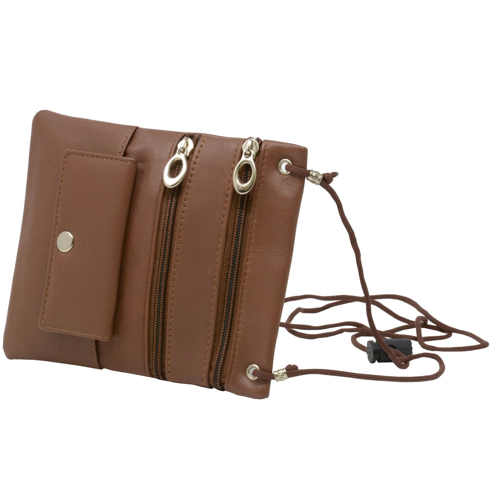 Soft-Leather-Purse-Organizer-Shoulder-Bag-4-Pocket-Micro-Handbag-Travel-Wallet thumbnail 18