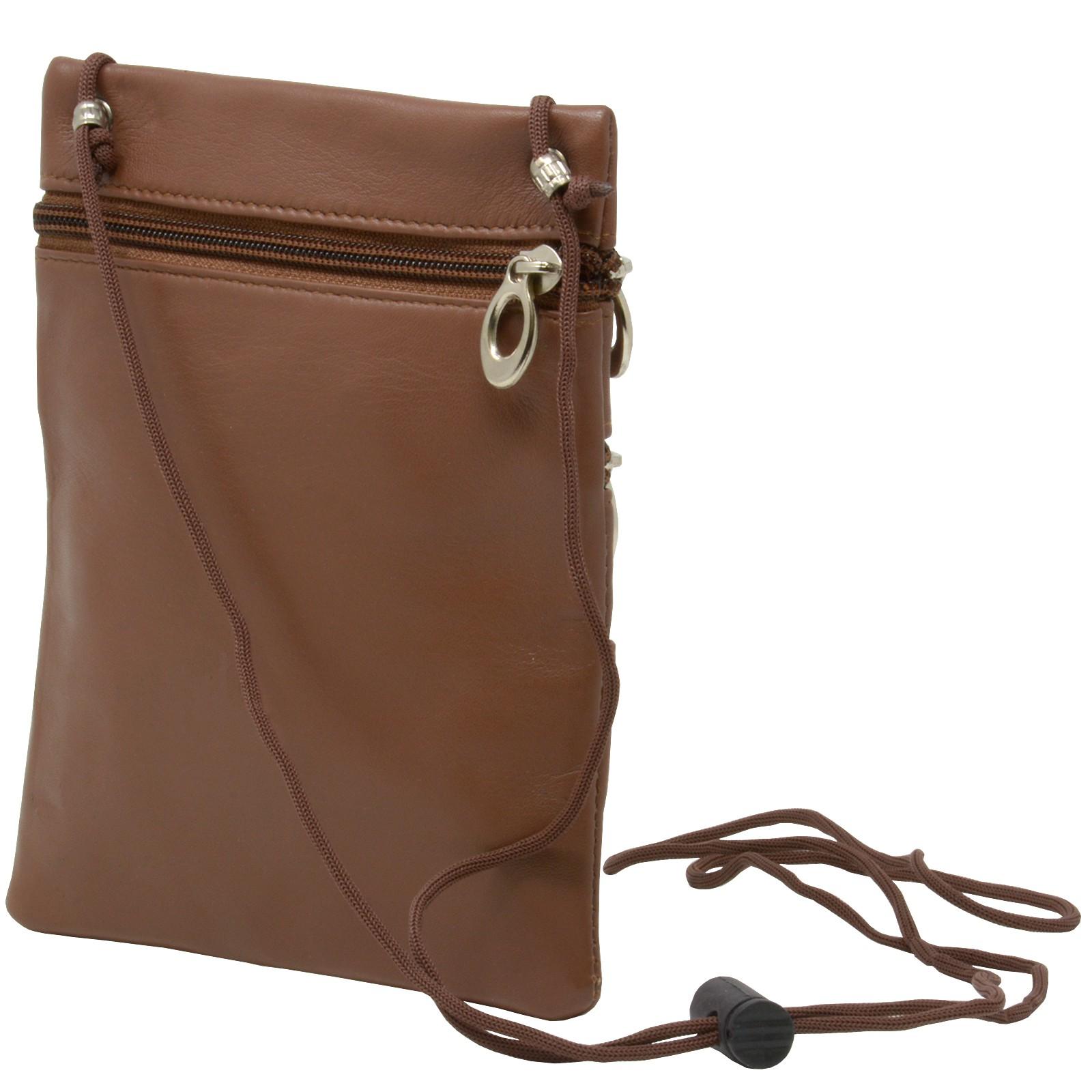 7bcbd64a91af Details about Soft Leather Purse Organizer Shoulder Bag 4 Pocket Micro  Handbag Travel Wallet