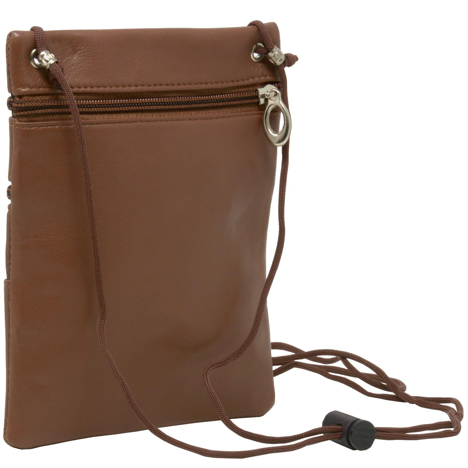 Soft-Leather-Purse-Organizer-Shoulder-Bag-4-Pocket-Micro-Handbag-Travel-Wallet thumbnail 17