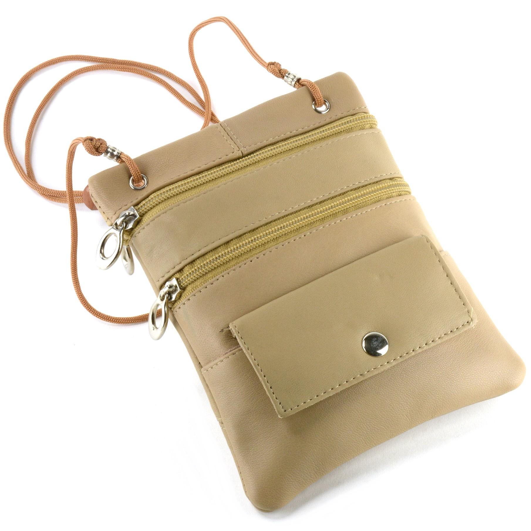Soft-Leather-Purse-Organizer-Shoulder-Bag-4-Pocket-Micro-Handbag-Travel-Wallet thumbnail 41