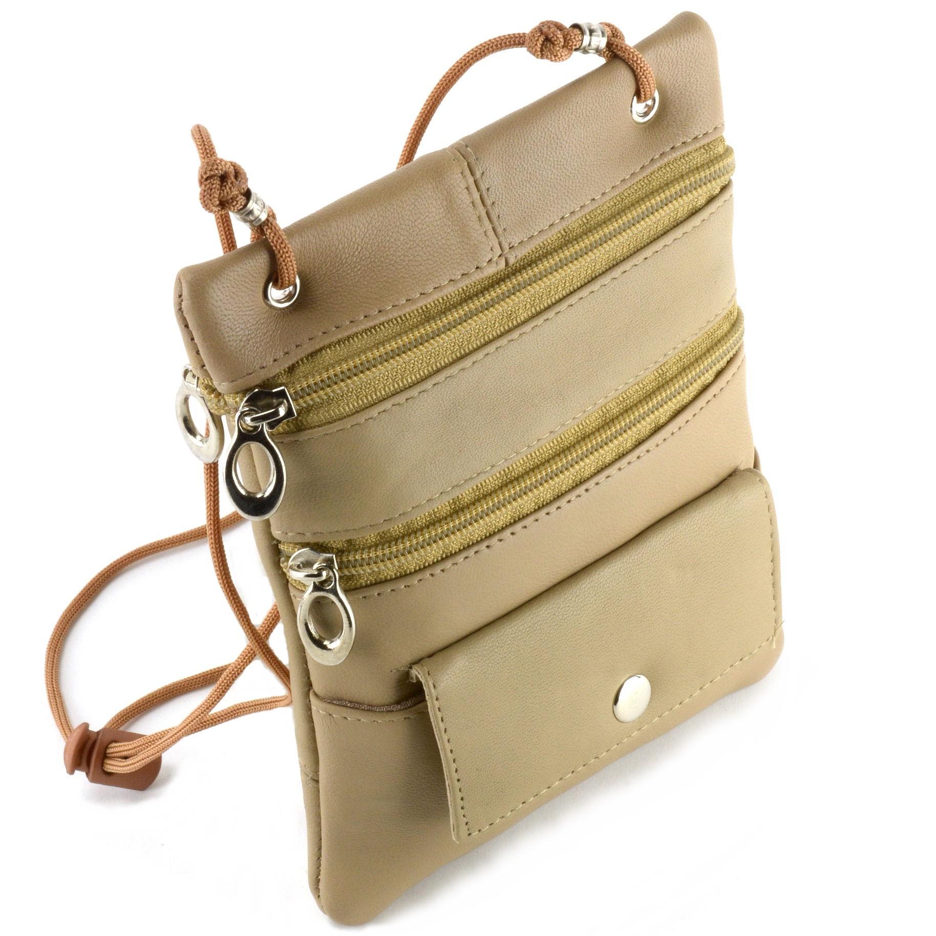 Soft-Leather-Purse-Organizer-Shoulder-Bag-4-Pocket-Micro-Handbag-Travel-Wallet thumbnail 42