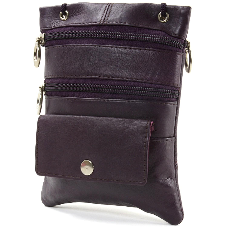 Soft-Leather-Purse-Organizer-Shoulder-Bag-4-Pocket-Micro-Handbag-Travel-Wallet thumbnail 29