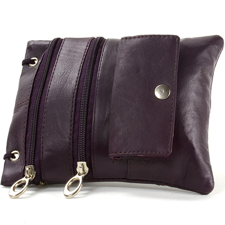 Soft-Leather-Purse-Organizer-Shoulder-Bag-4-Pocket-Micro-Handbag-Travel-Wallet thumbnail 30