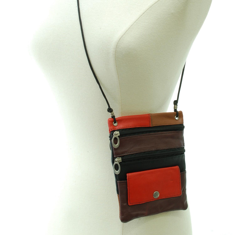 Soft-Leather-Purse-Organizer-Shoulder-Bag-4-Pocket-Micro-Handbag-Travel-Wallet thumbnail 33