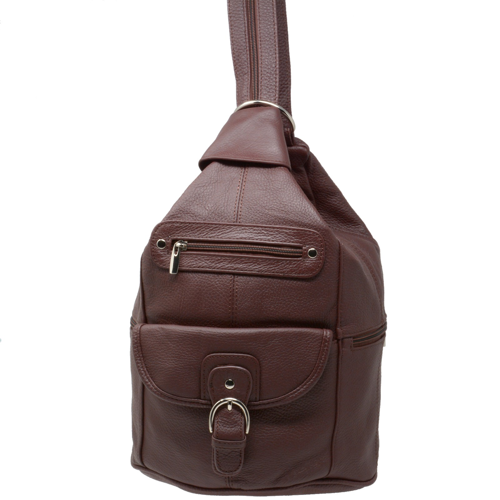 Womens-Leather-Backpack-Purse-Sling-Shoulder-Bag-Handbag-3-in-1-Convertible-New