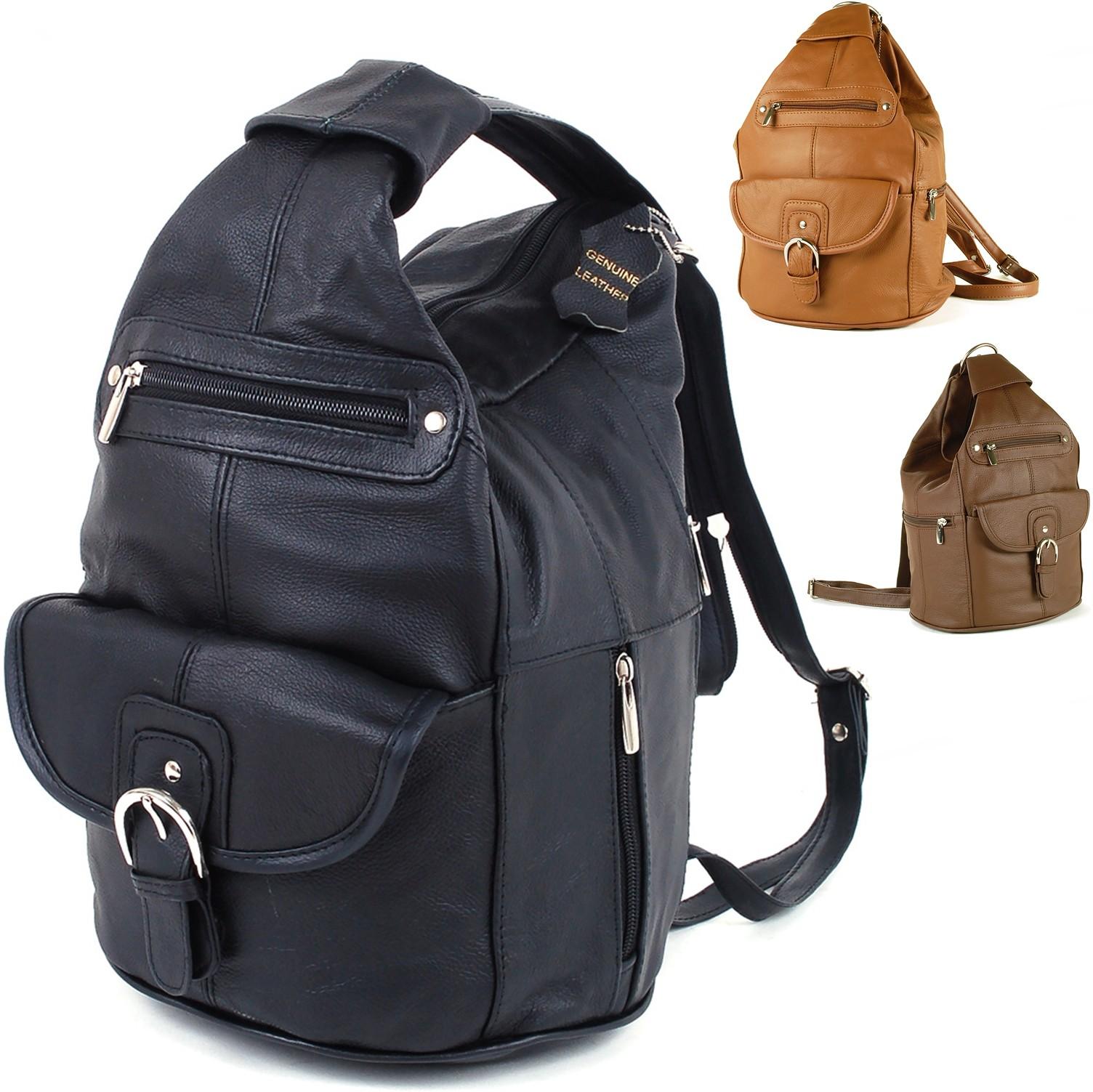 Womens Leather Backpack Purse Sling Shoulder Bag Handbag 3 in 1 Convertible  New b53ecedffc5ae