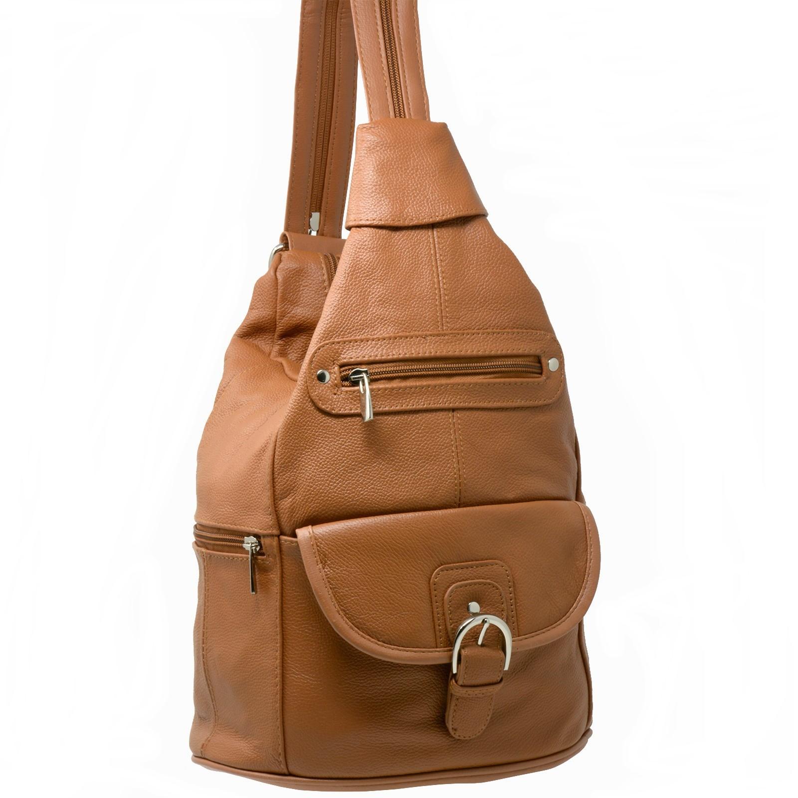 Womens Leather Backpack Purse Sling Shoulder Bag Handbag 3 in 1 ... c735c77af830a