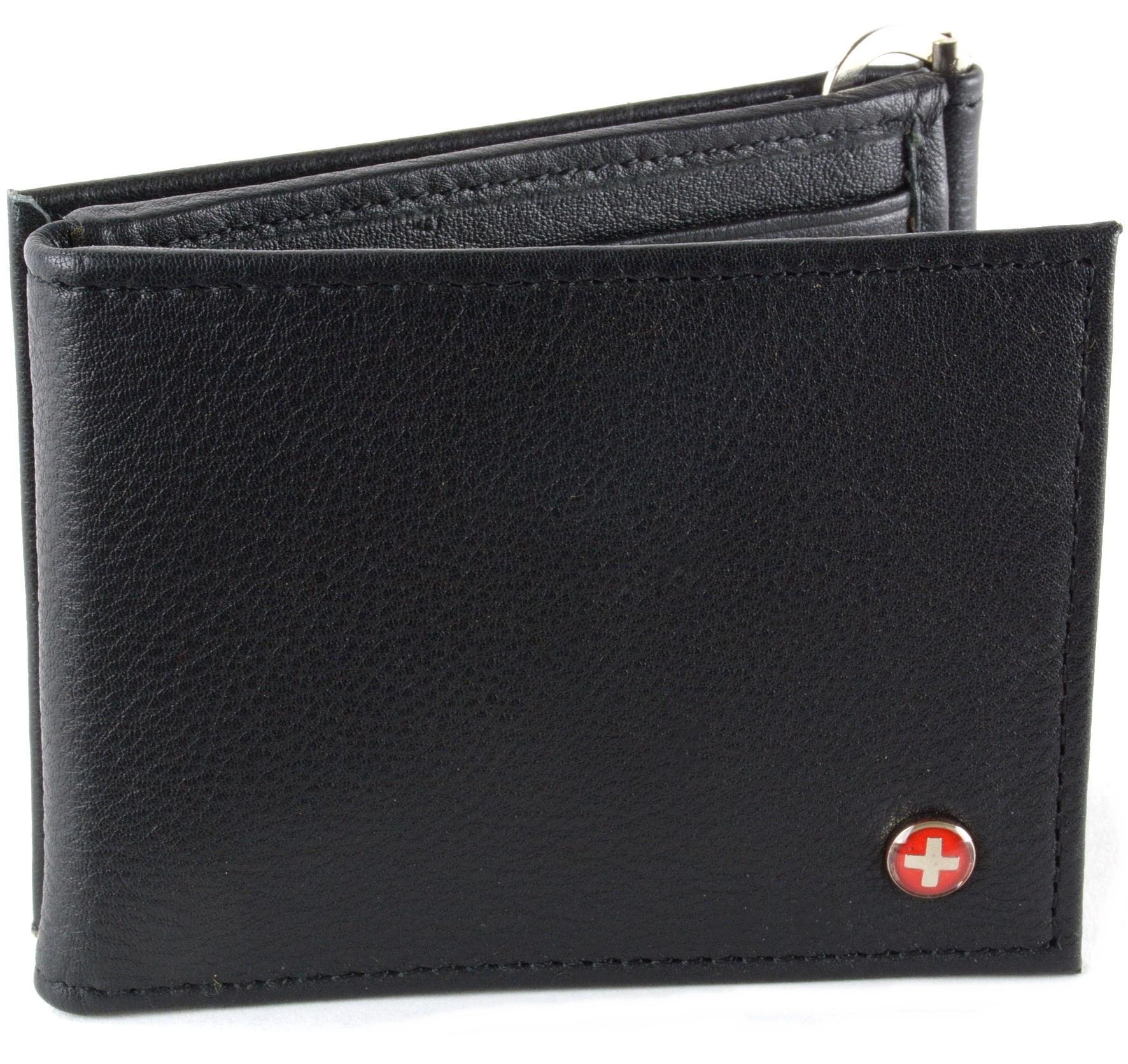 Mens Leather Wallet Spring Money Clip Z Shape Trifold Bifold 11 Card Slots 2 Ids Ebay