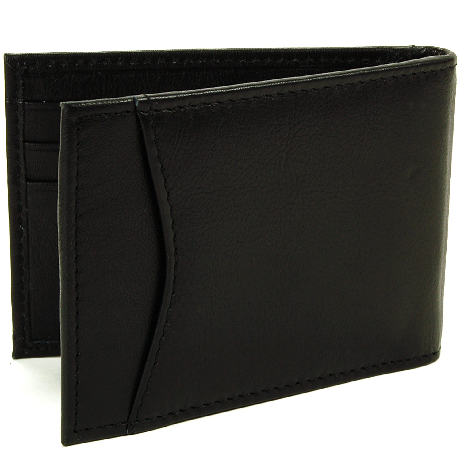 Alpine-Swiss-Mens-Bifold-Money-Clip-Spring-Loaded-Leather-ID-Front-Pocket-Wallet thumbnail 21