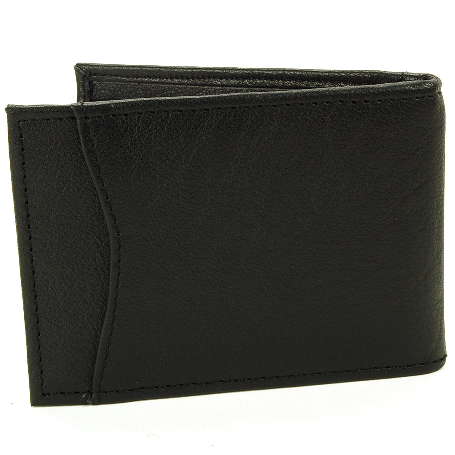 Alpine-Swiss-Mens-Bifold-Money-Clip-Spring-Loaded-Leather-ID-Front-Pocket-Wallet thumbnail 17