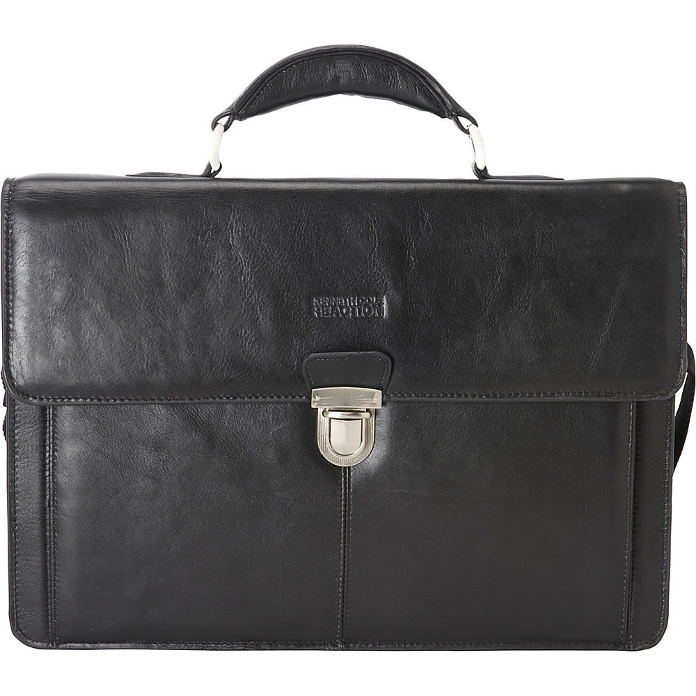 Kenneth Cole Reaction Men\'s Leather Briefcase Business Case ...