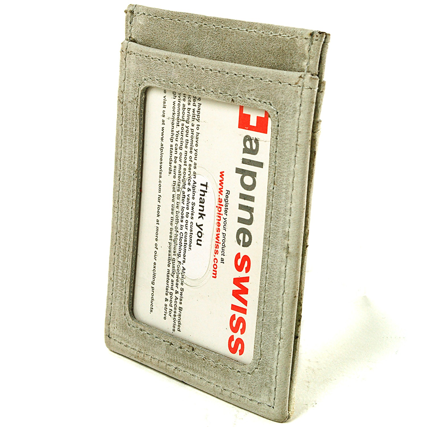 AlpineSwiss-Mens-Leather-Money-Clip-Magnet-Front-Pocket-Wallet-Slim-ID-Card-Case thumbnail 90