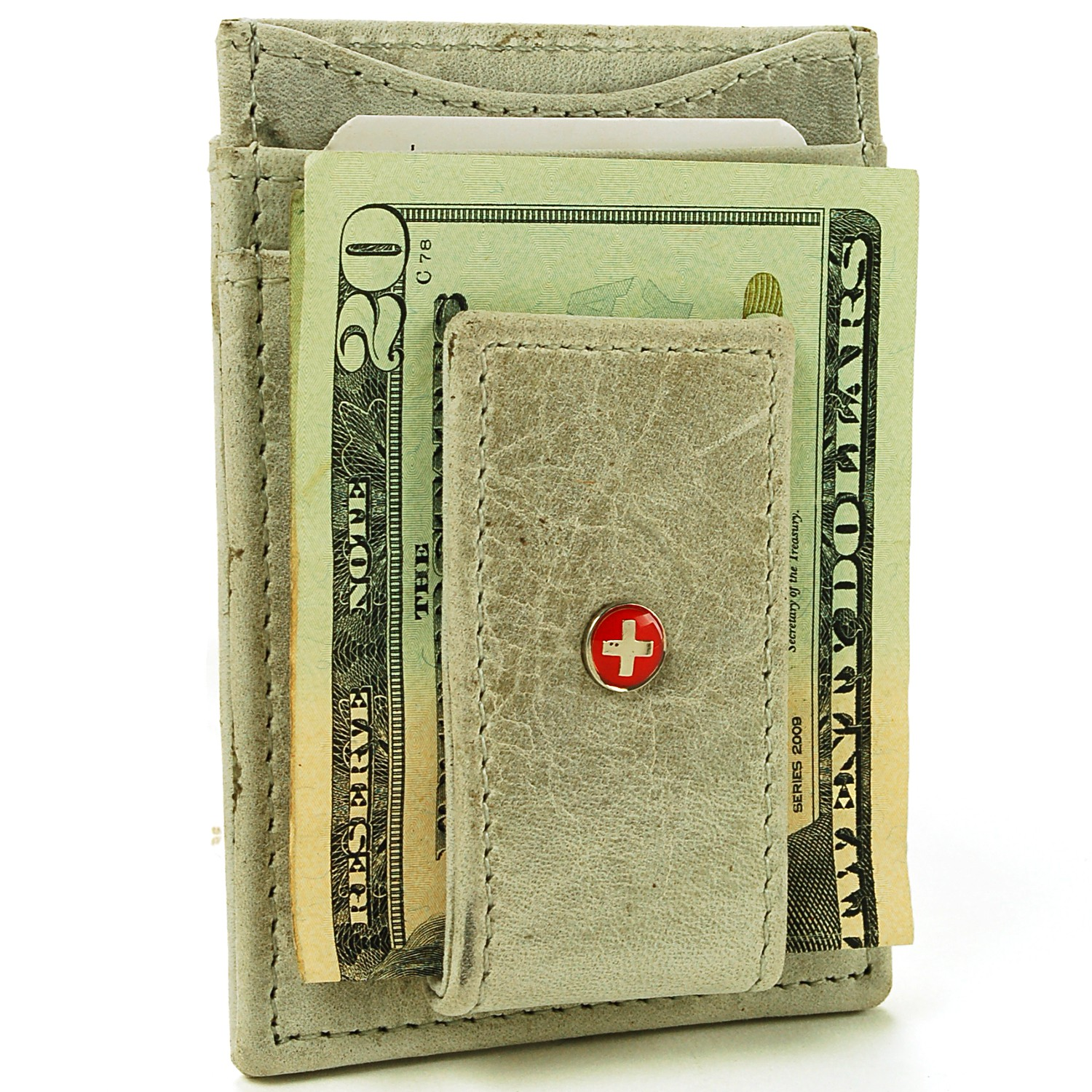 AlpineSwiss-Mens-Leather-Money-Clip-Magnet-Front-Pocket-Wallet-Slim-ID-Card-Case thumbnail 92
