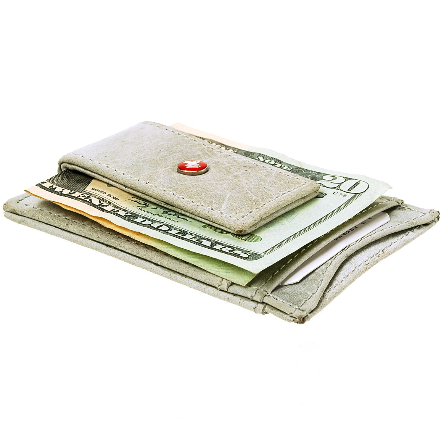 AlpineSwiss-Mens-Leather-Money-Clip-Magnet-Front-Pocket-Wallet-Slim-ID-Card-Case thumbnail 93