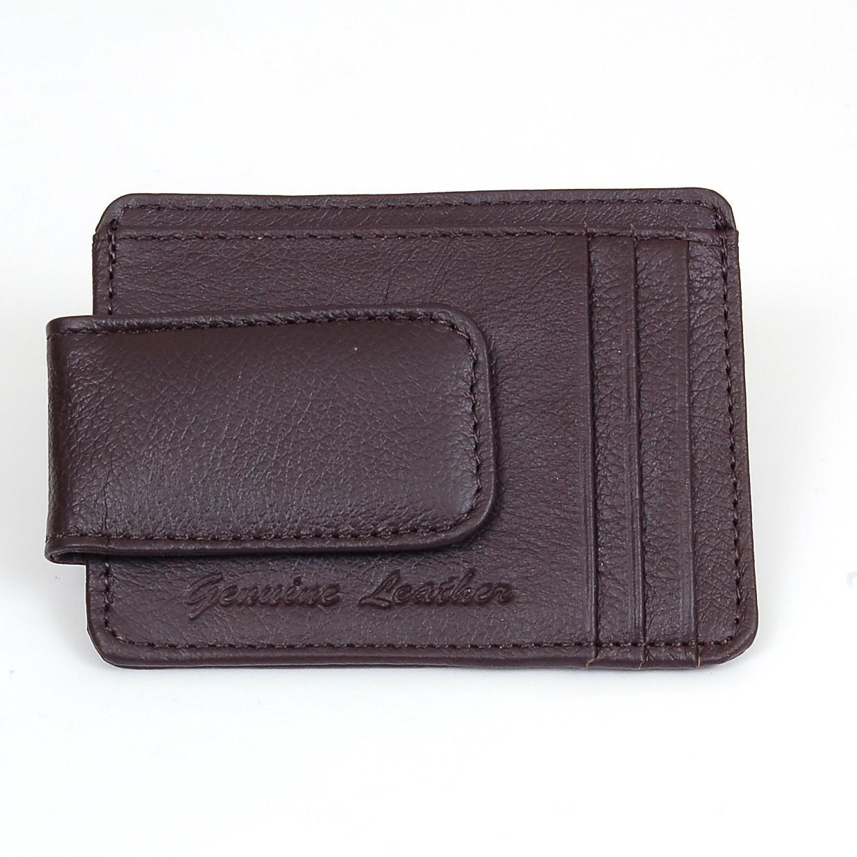 Mens Leather Wallet Money Clip Credit Card ID Holder Front Pocket Thin Slim NEW | eBay