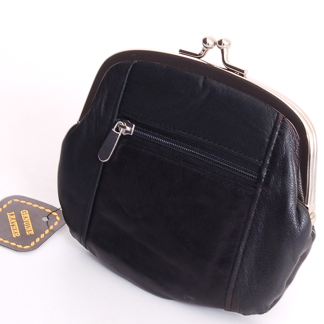 Credit Coin: Womens Leather Coin Purse Mini Wallet Metal Frame ID