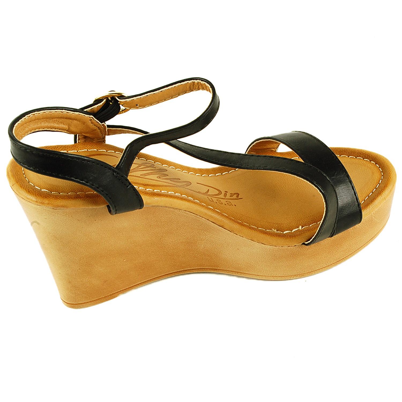 Womens Platform Sandals Ankle Strap Open Toe Slingback