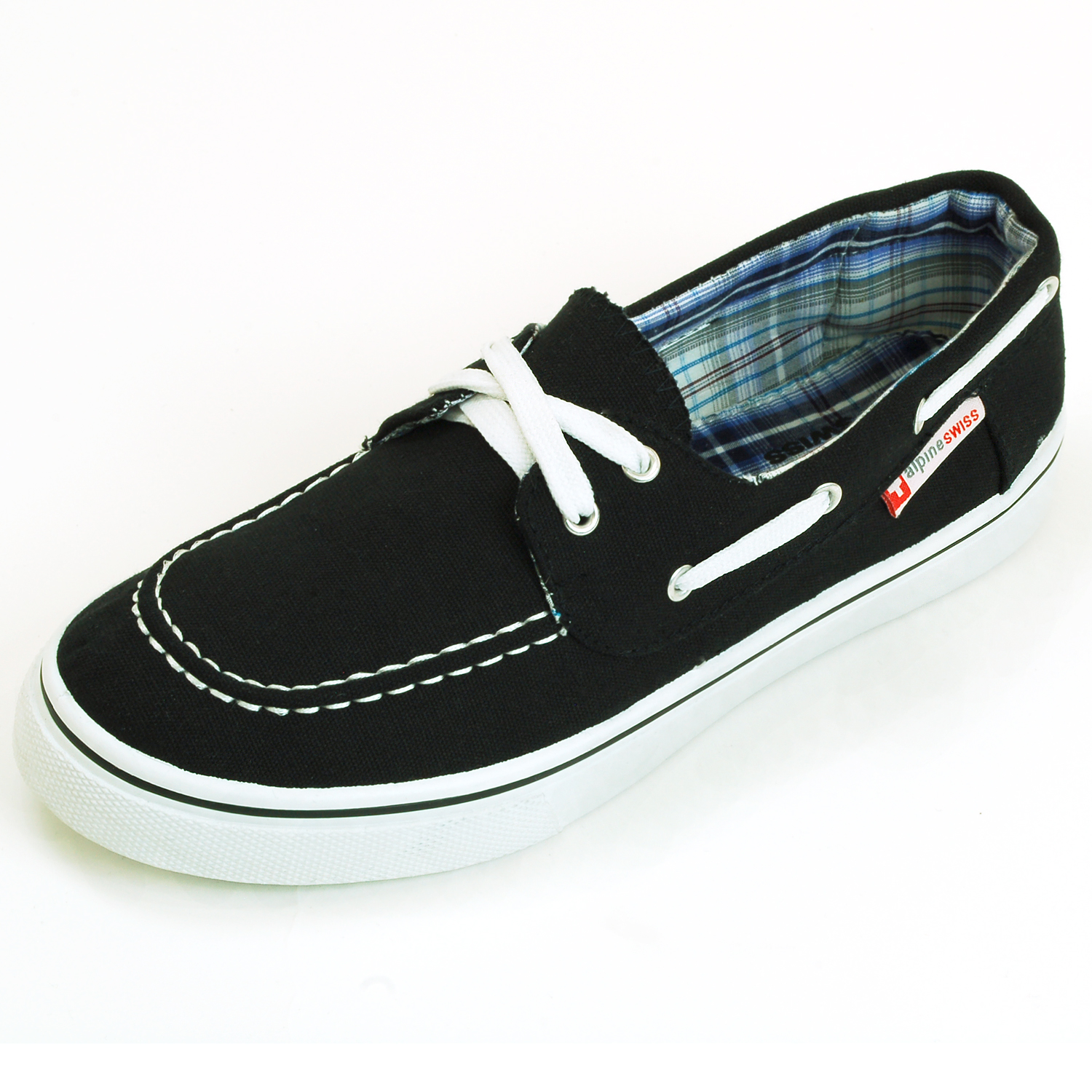 AlpineSwiss Antigua Mens Boat Shoes Lace Up Loafer Deck