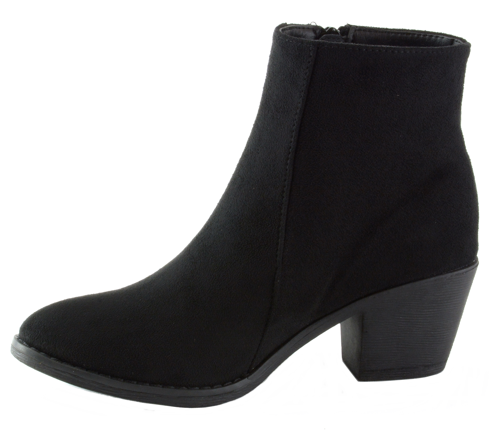 Alpine-Swiss-Arosa-Womens-Ankle-Boots-Fringe-Shoes-Block-High-Heel-Micro-Suede thumbnail 12