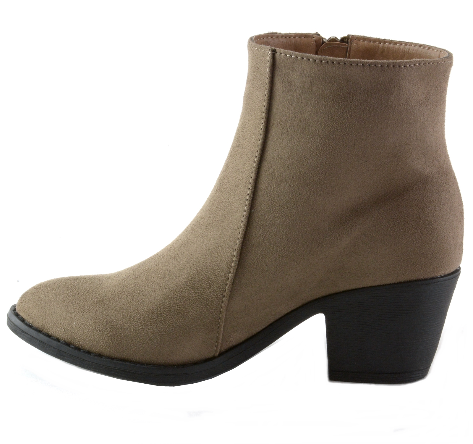 Alpine-Swiss-Arosa-Womens-Ankle-Boots-Fringe-Shoes-Block-High-Heel-Micro-Suede thumbnail 21
