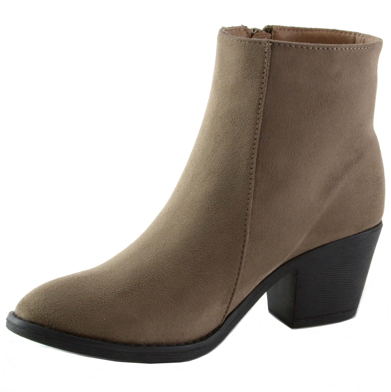 Alpine-Swiss-Arosa-Womens-Ankle-Boots-Fringe-Shoes-Block-High-Heel-Micro-Suede thumbnail 19