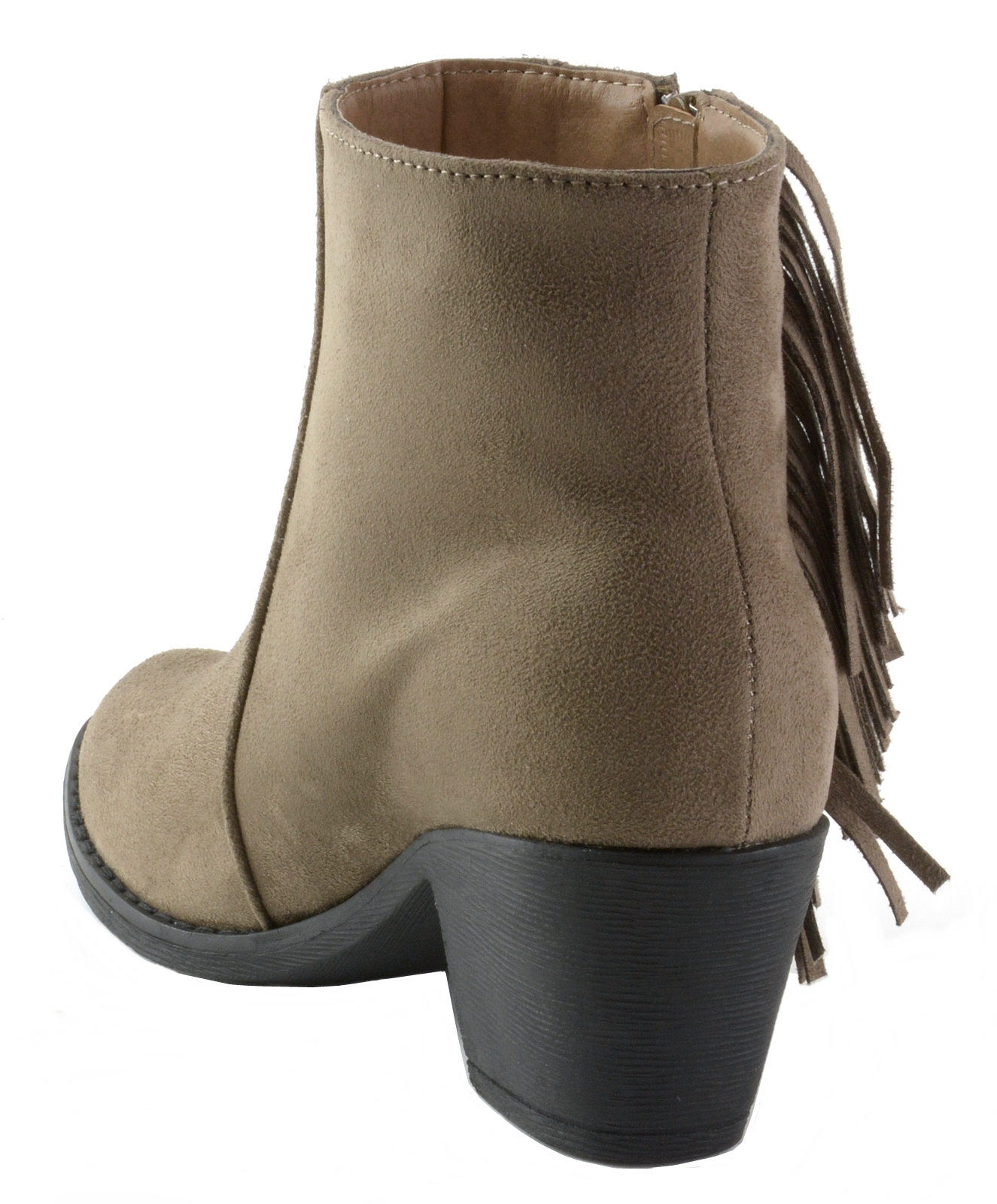 Alpine-Swiss-Arosa-Womens-Ankle-Boots-Fringe-Shoes-Block-High-Heel-Micro-Suede thumbnail 23