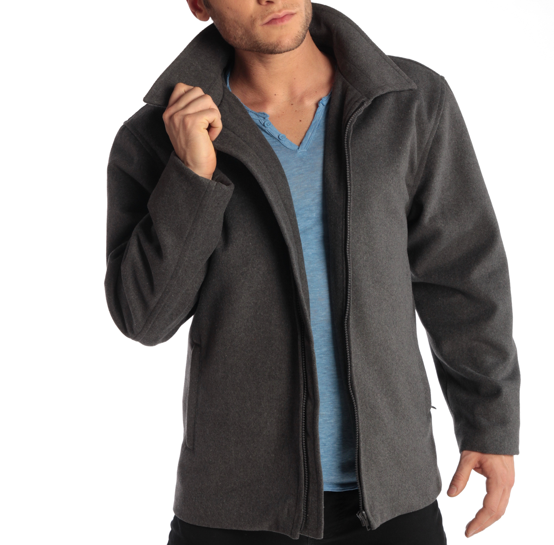 Alpine-Swiss-Grant-Mens-28-034-Open-Bottom-Jacket-Wool-Blend-JD-Bomber-Coat-Zipered thumbnail 29