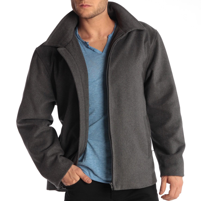 Alpine-Swiss-Grant-Mens-28-034-Open-Bottom-Jacket-Wool-Blend-JD-Bomber-Coat-Zipered thumbnail 27