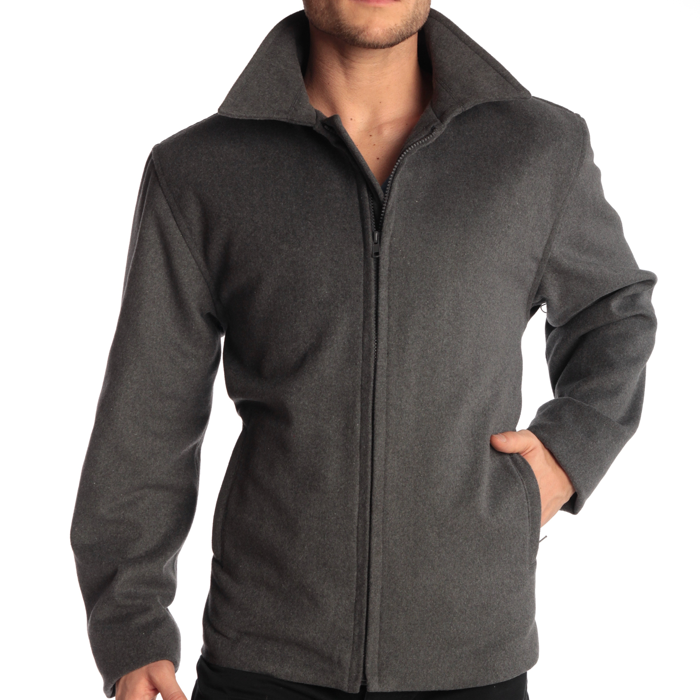 Alpine Swiss Grant Mens 28 Quot Open Bottom Jacket Wool Blend