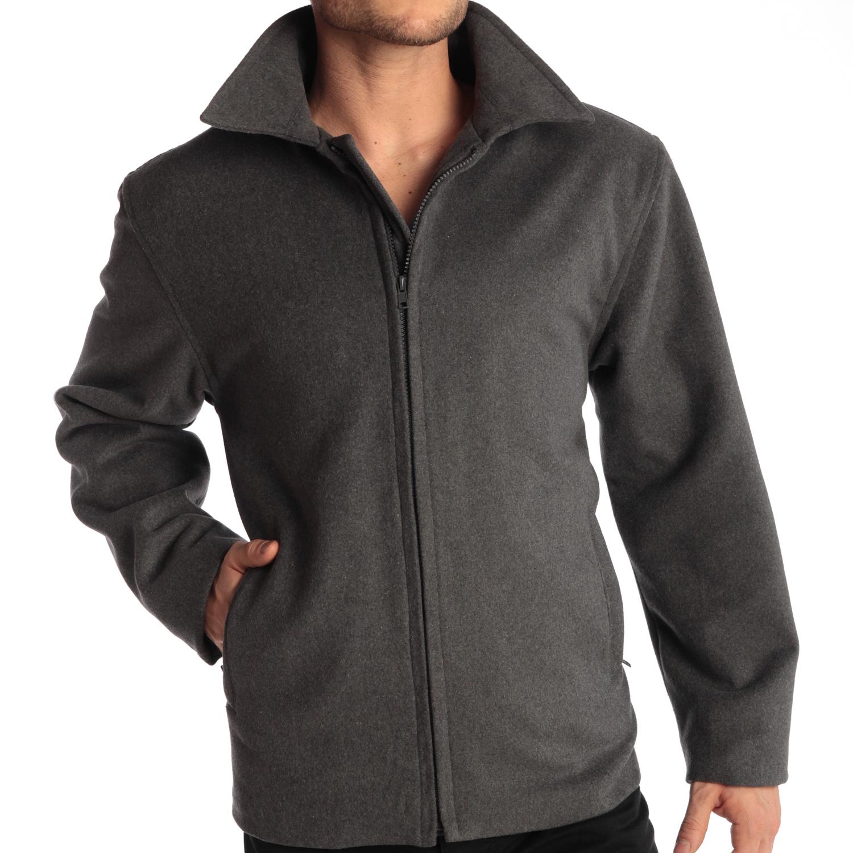 Alpine-Swiss-Grant-Mens-28-034-Open-Bottom-Jacket-Wool-Blend-JD-Bomber-Coat-Zipered thumbnail 28