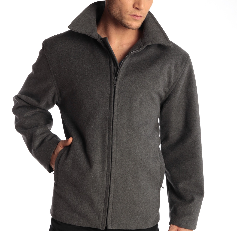 Alpine-Swiss-Grant-Mens-28-034-Open-Bottom-Jacket-Wool-Blend-JD-Bomber-Coat-Zipered thumbnail 25