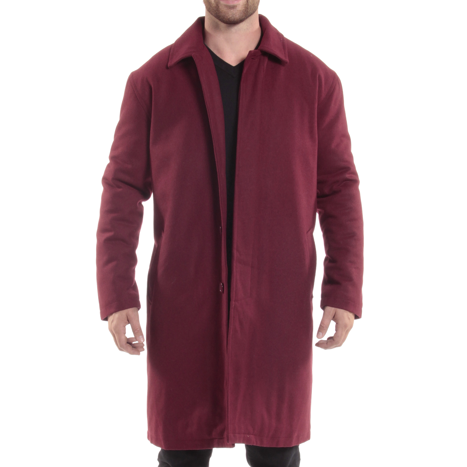 Alpine-Swiss-Mens-Zach-Knee-Length-Jacket-Top-Coat-Trench-Wool-Blend-Overcoat thumbnail 28