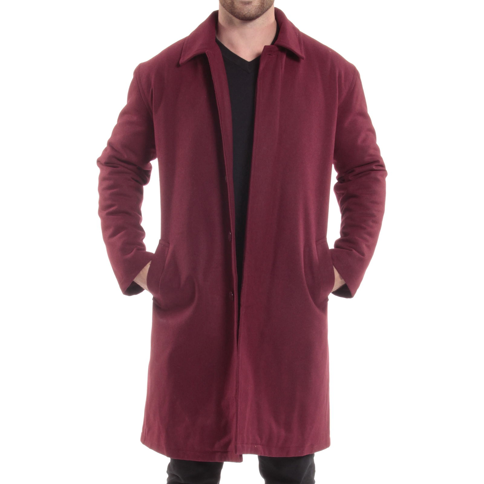 Alpine-Swiss-Mens-Zach-Knee-Length-Jacket-Top-Coat-Trench-Wool-Blend-Overcoat thumbnail 23