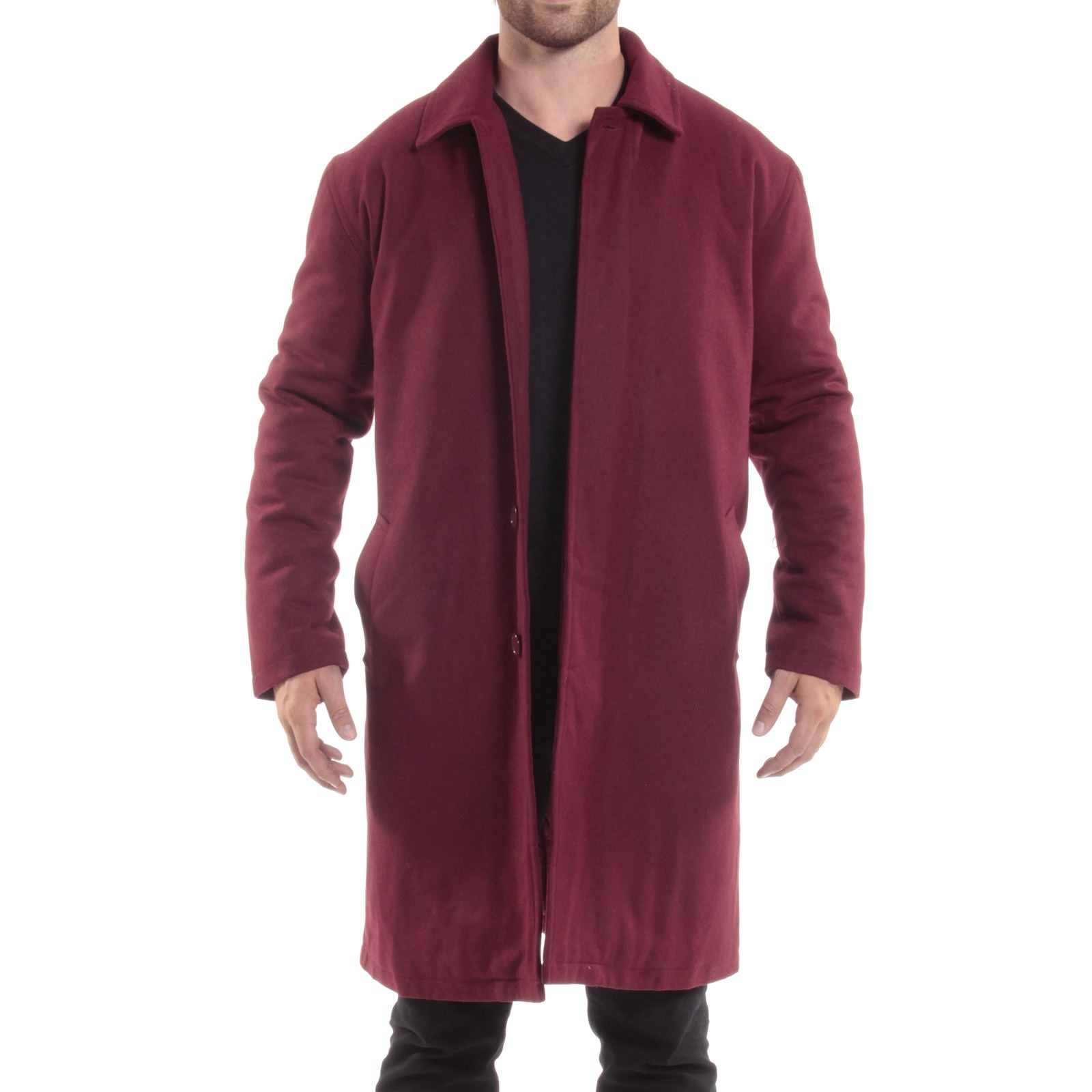 Alpine-Swiss-Mens-Zach-Knee-Length-Jacket-Top-Coat-Trench-Wool-Blend-Overcoat thumbnail 29