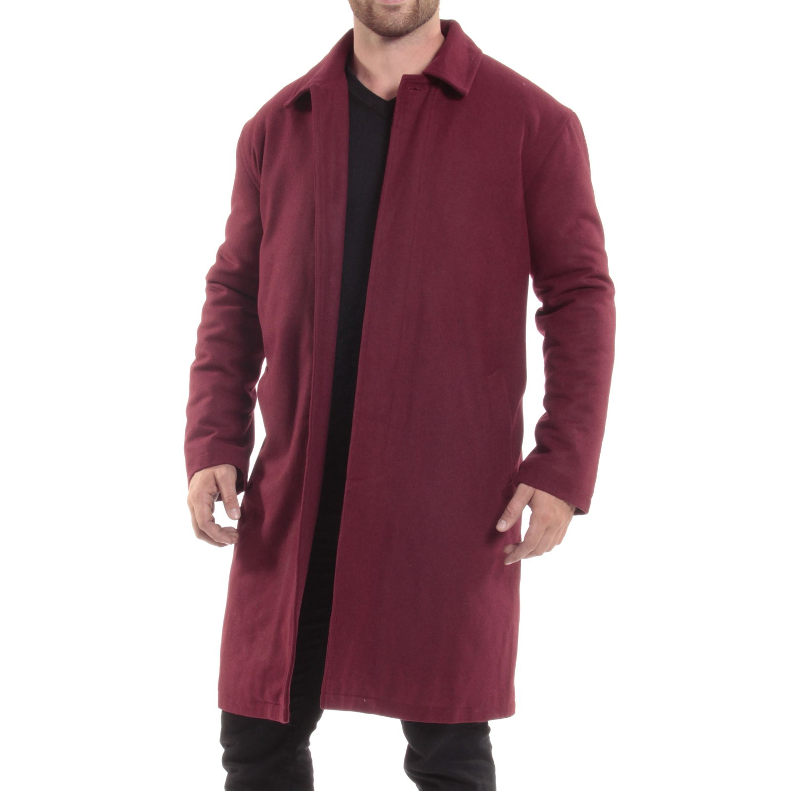 Alpine-Swiss-Mens-Zach-Knee-Length-Jacket-Top-Coat-Trench-Wool-Blend-Overcoat thumbnail 26