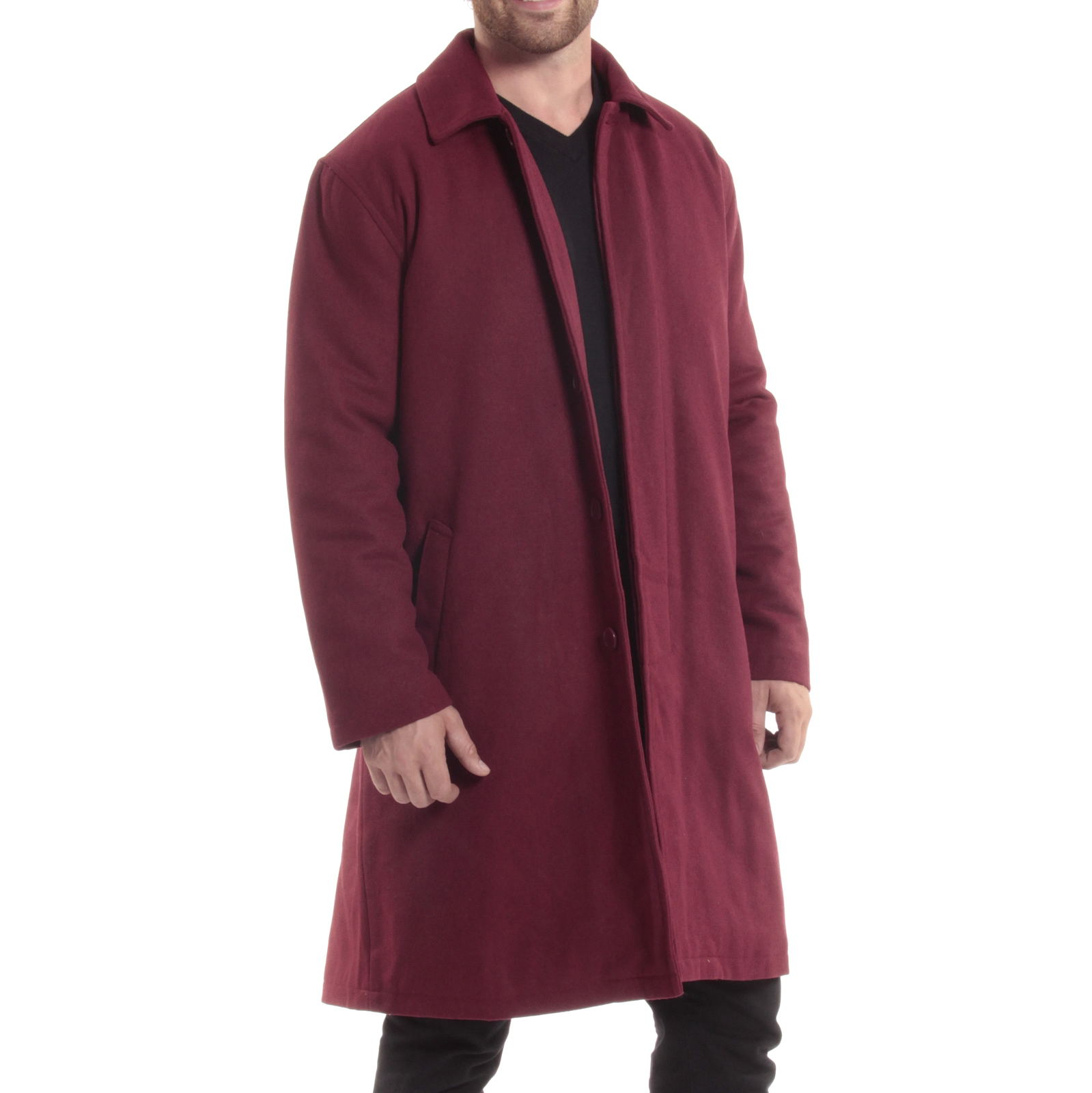 Alpine-Swiss-Mens-Zach-Knee-Length-Jacket-Top-Coat-Trench-Wool-Blend-Overcoat thumbnail 27