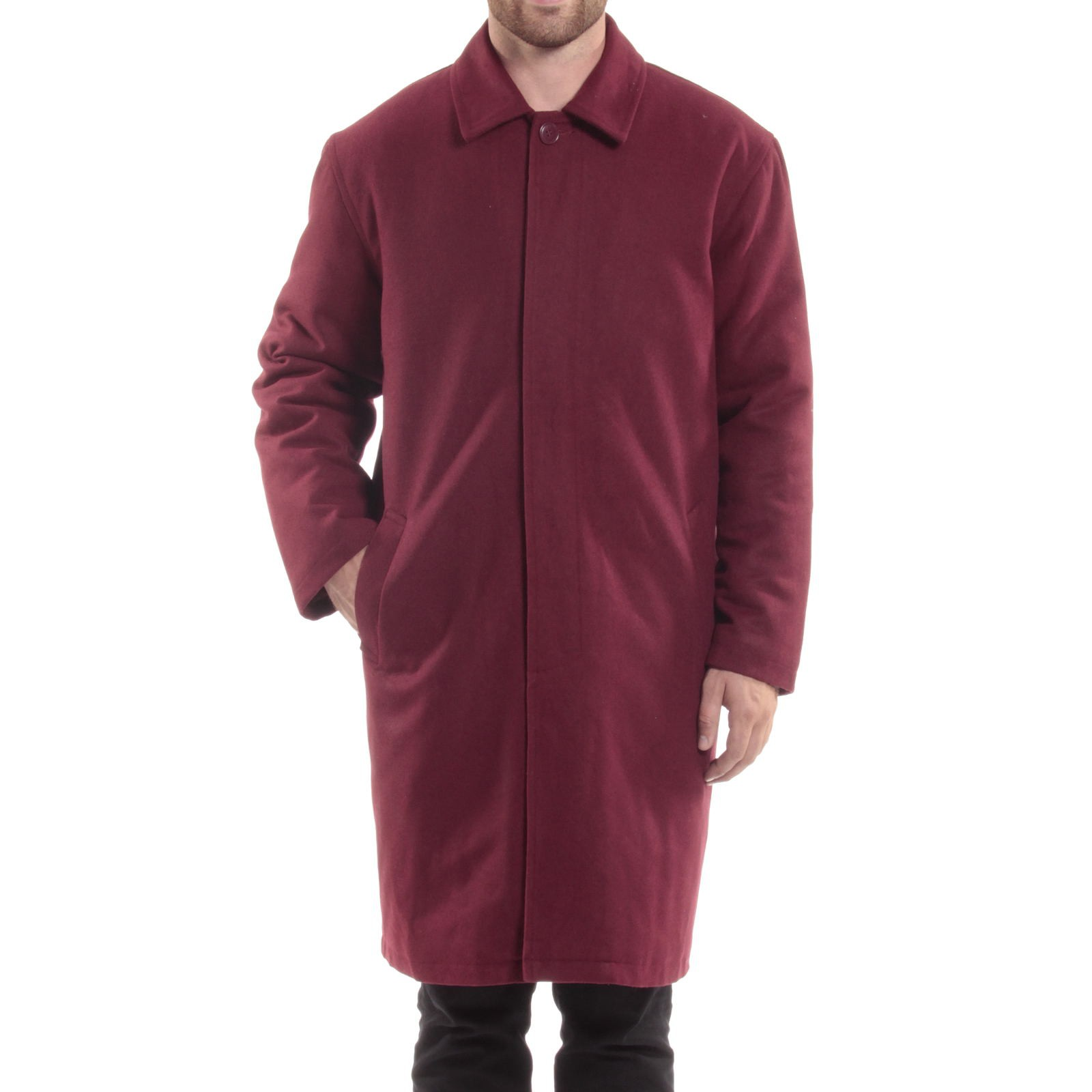 Alpine-Swiss-Mens-Zach-Knee-Length-Jacket-Top-Coat-Trench-Wool-Blend-Overcoat thumbnail 30