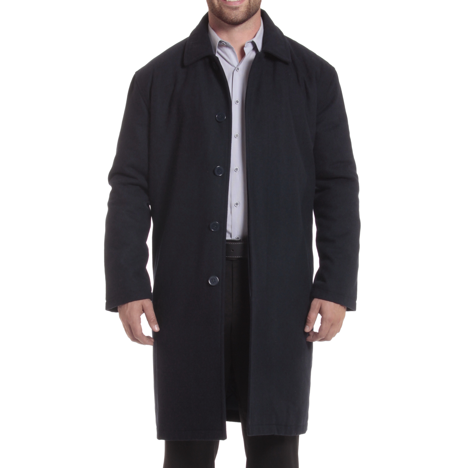 Alpine-Swiss-Mens-Zach-Knee-Length-Jacket-Top-Coat-Trench-Wool-Blend-Overcoat thumbnail 47