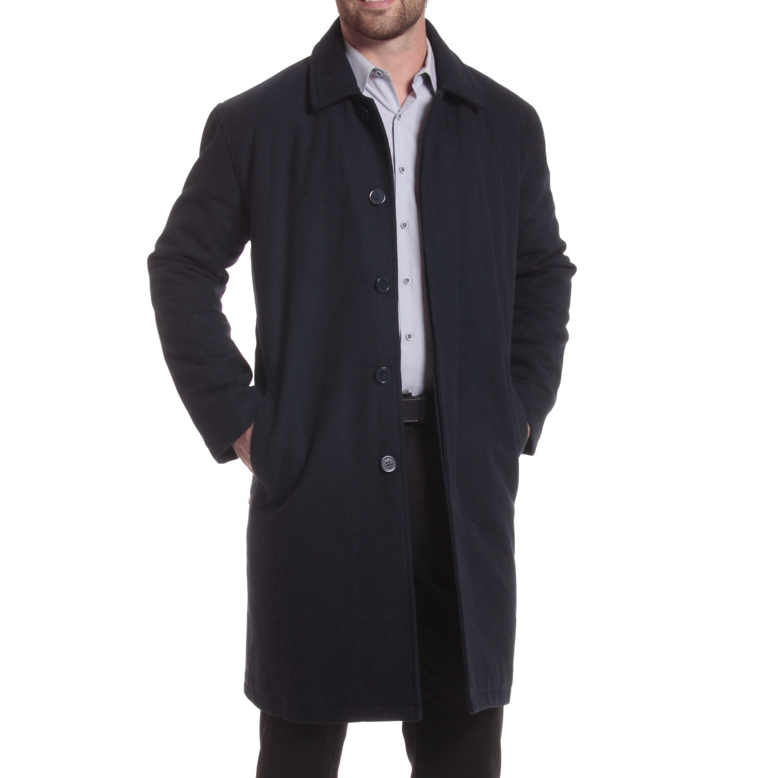 Alpine-Swiss-Mens-Zach-Knee-Length-Jacket-Top-Coat-Trench-Wool-Blend-Overcoat thumbnail 45