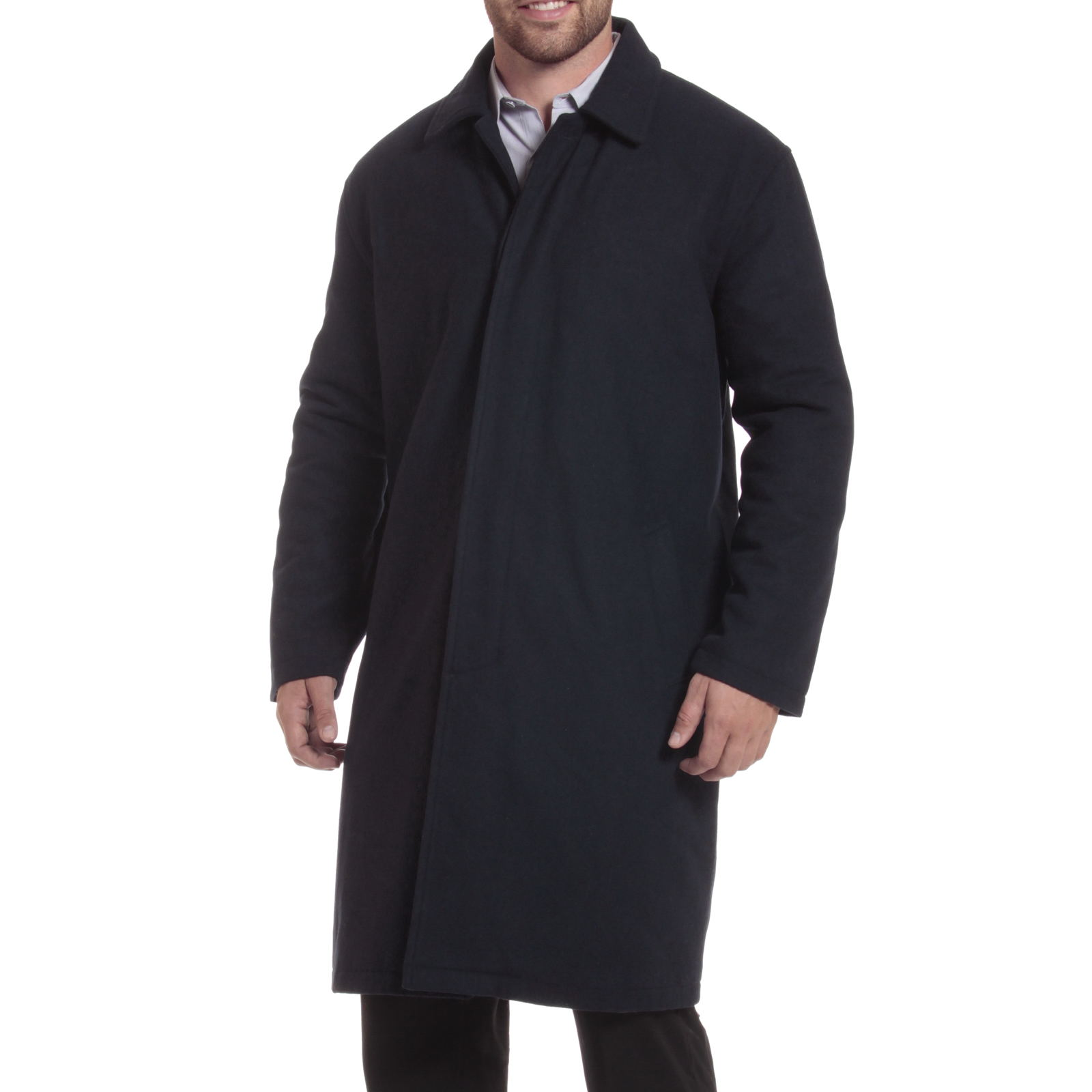Alpine-Swiss-Mens-Zach-Knee-Length-Jacket-Top-Coat-Trench-Wool-Blend-Overcoat thumbnail 48