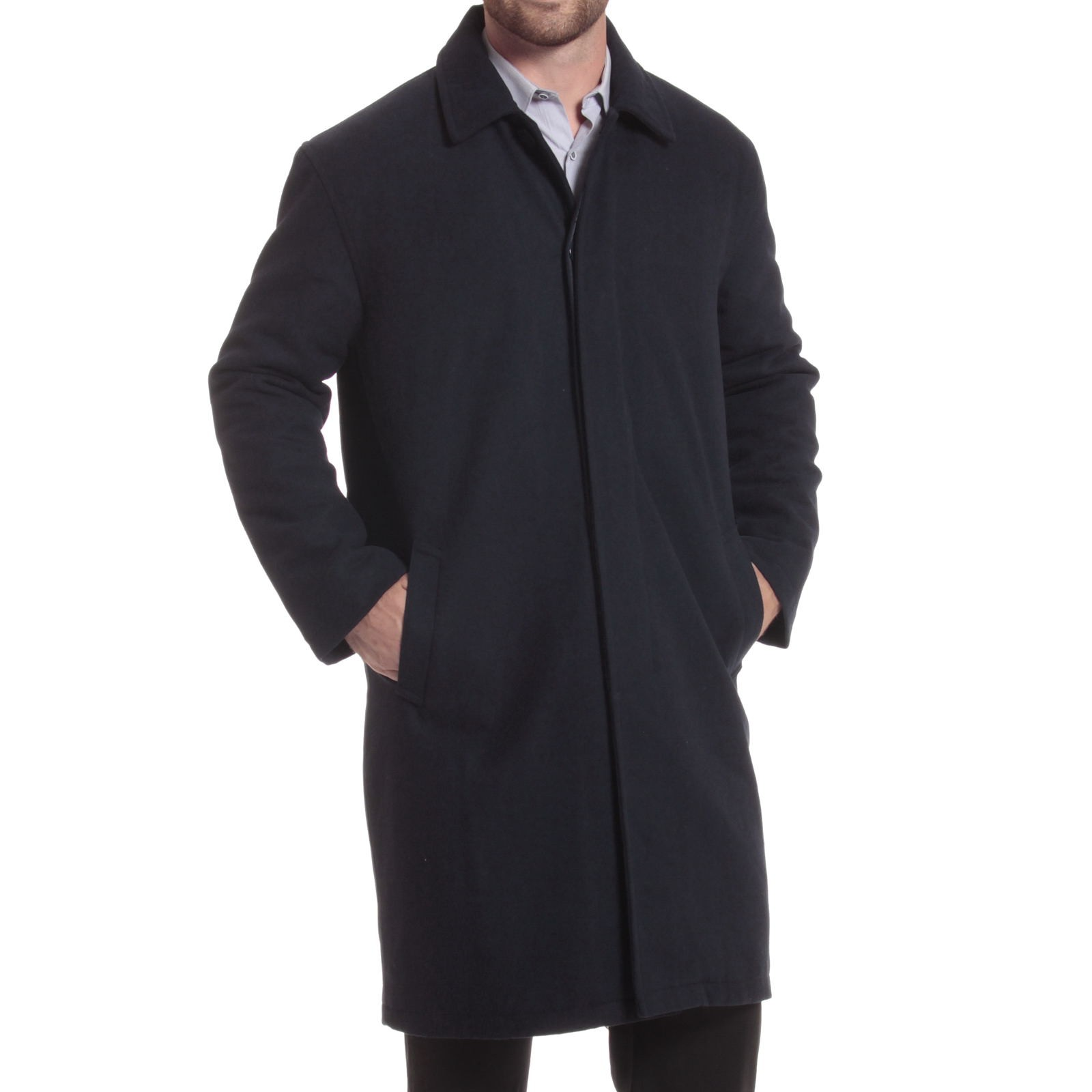 Alpine-Swiss-Mens-Zach-Knee-Length-Jacket-Top-Coat-Trench-Wool-Blend-Overcoat thumbnail 43